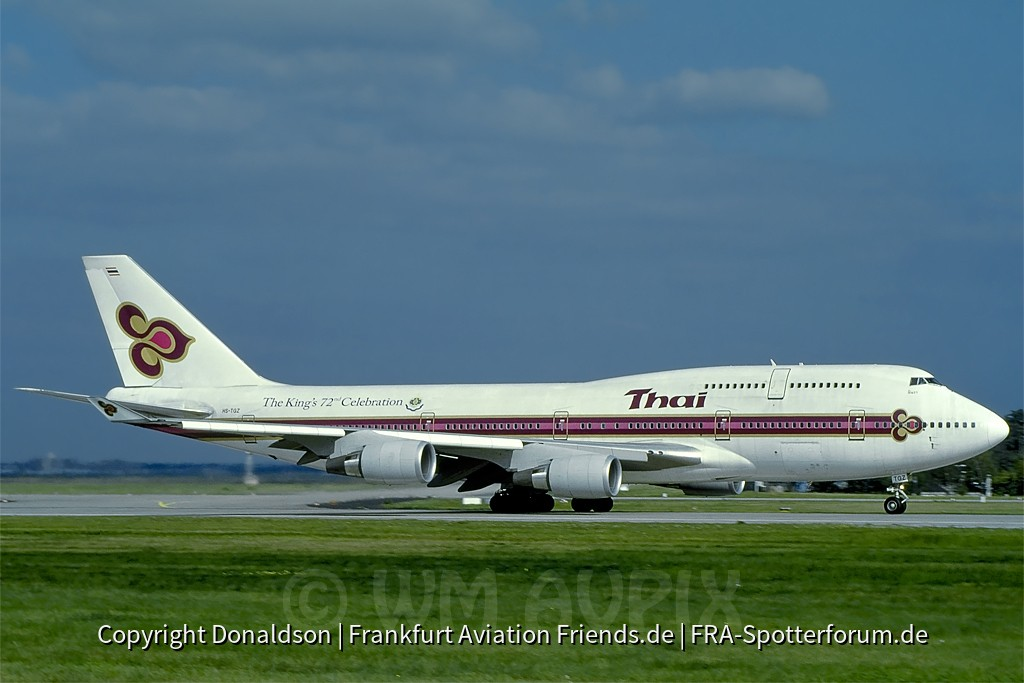 HS-TGZ Thai International Boeing 747-4D7
