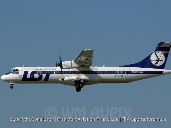 SP-LFB LOT Polish Airlines ATR 72-200