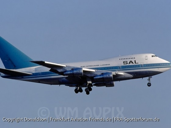 ZS-SPA South African Airways Boeing 747SP-44